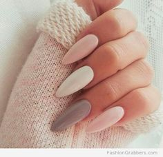 Cute-pastel-winter-nail-colors-in-stiletto-shapeCheck these amazing winter nail colors!