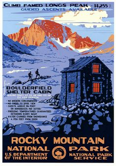 US National Park poster