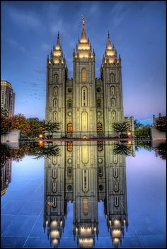 LDS Temple, Salt Lake City, Utah It is the sixth temple completed by the church, requiring 40 years to complete, and the fourth operating temple built since the Mormon exodus from Nauvoo, Illinois. by Pedro Szekely