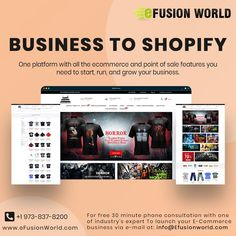 One Platform With All The E-Commerce And Point Of Sale Features You Need To Start, Run And Grow Your Business. For FREE 30 minute phone consultation with one of industry's expert to launch your E-Commerce business via e-mail at info@efusionworld.com. Ecommerce Website Design, Responsive Web Design, Point Of Sale, E Commerce Business, Web Design Services, Growing Your Business, Product Launch, Platform, Phone