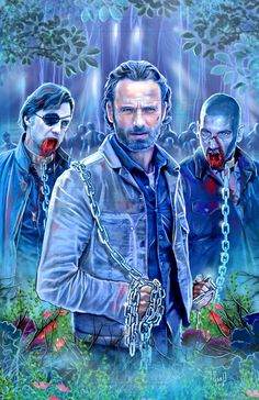 """""""Rick's Chains"""" The Walking Dead Digital Drawing from The Art of Gard"""