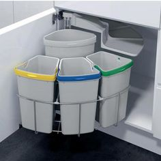 Recycling Trash Cans and Bins - Go Green, Recycle Trash - Shop Now at KitchenSource.com