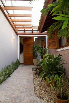 Casa de Praia: Corredores, halls e escadas rústicos por Espaço do Traço arquitetura