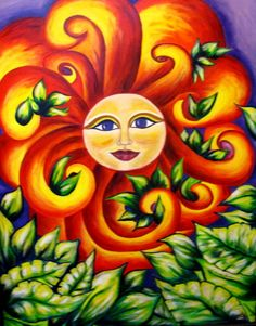 """""""Sol De Vida"""" [Sun Life] NORMA GARCIA-TORRES Born in Juarez, Chihuahua, Mexico Raised in Southwest USA. Attended University of Texas at El Paso, moved to Phoenix area to attend Arizona State University. Spent most of her career in social services and with retirement from government service, her life has come full circle. She is again painting. An Hispanic artist living in Chandler, Arizona,  her art is inspired by memories of childhood in Mexico and contemporary life in the Southwest"""