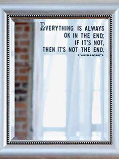 Embellish a Plain Mirror with a Rub-On Sentiment