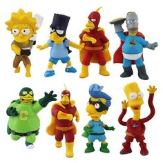 the simpsons toys | ... & Rubber Toys > Cartoon toys > The Simpsons PVC Figure Toy(8pcs