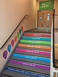 Growth Mindset Steps in our school! #stairs #growthmindset