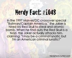 Nerdy fact see the joker is humane in his special lovely weird twisted way
