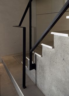 Black steel handrail at Conventry Street Workplace by B.E Architecture