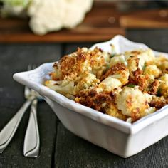 """Hungry Couple: Oven """"Fried"""" Crispy Cauliflower Poppers"""