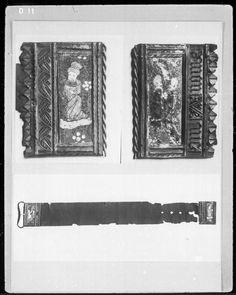 Silk belt with enamelled buckle - Flanders or Burgundy 1450