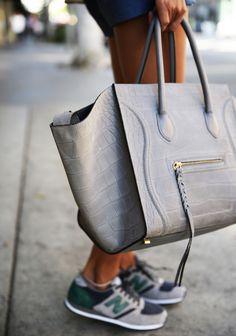 celine grey cloth handbag