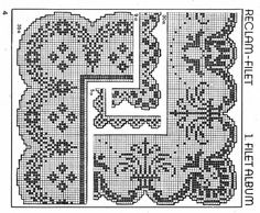 (1) Gallery.ru / Фото #25 - pp - ergoxeiro Filet Crochet Charts, Crochet Lace, Crochet Borders, Cross Stitch Borders, Love Crochet, Cross Stitching, Cross Stitch Embroidery, Lace Making, Crotchet Patterns