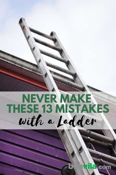 Ladder Safety 101 A Frame Ladder, Tall Ladder, Best Ladder, Home Safety Tips, Bob Vila, Diy Home Repair, Home Repairs, Home Health, Working Area