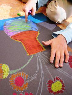 VanGogh Chalk & Oil Pastels/Art Lessons For Kids