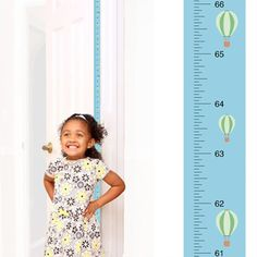 PeekaBoo [Hot Air Balloon] Growth Chart: Track and Measure Height by MomApproved on Etsy