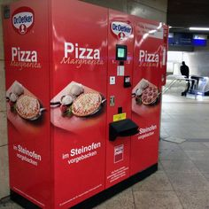 Pizza Vending Machine // Frankfurt, Germany-- need one in the kitchen...uhhh, cause you know, sometimes you have a late night