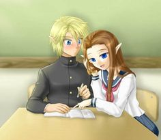 Anime Version, I love Link's face. XD