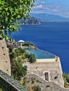 Monastero Santa Rosa, our favourite hotel on the Amalfi Coast - just check out that infinity pool!