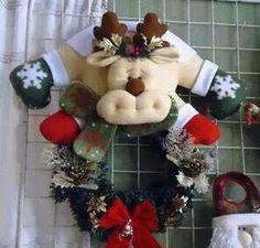 Santa Claus, Reno y Mono de Nieve con fotos y moldes español...