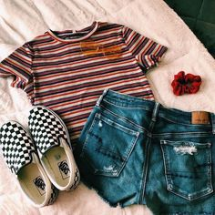 Follow me for more pins: #appleproducts #bedroomdesign #wallpapers #menfashion #womenfashion #design #kitchen Teen Outfits, Cool Outfits, Cute Summer Outfits, Spring Outfits, Casual Outfits, Fashion Outfits, Piece Of Clothing, Checkered Vans Outfit, Ootds