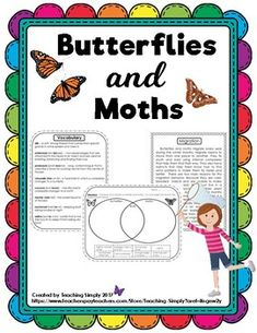 Get ready for spring! Do you know the differences between butterflies and moths? Find out this and more when you teach this mini-unit! You and your students will enjoy the variety of activities, worksheets and resources! Inquiry Based Learning, Project Based Learning, Learning Centers, Literacy Centers, Elementary Science, Science Classroom, Classroom Themes, Fact And Opinion, Report Writing