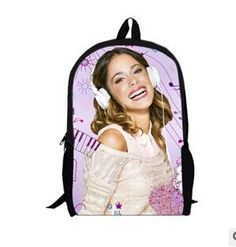 5c340db184df Newest Fashion 2016 Violetta 3D School Bags for Girls,Cute Cartoon Bag  Violetta Lady Shoulder Bags,Schoolbag Backpack for Women