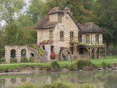 Marie Antoinette's Village in Versailles | marie antoinette's village at versailles gardens - watermill | Flickr ...