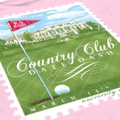 Kappa Delta - KD - University of Arkansas - Country Club Date Dash Design - Sorority shirts - Check out b-unlimited.com!