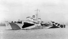HMS Badsworth Hunt-class (Type II) escort destroyer 1,050 tons - 16 November 1944 served to Norwegian Navy as HNoMS Arendal Scrapped 1965