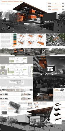 Como diagramar prancha na horizontal (tutorial com imagens vídeos passo-a-passo) - Marina Araújo Landscape Architecture Model, Architecture Portfolio Layout, Architecture Drawing Plan, Architecture Model Making, Conceptual Architecture, Architecture Collage, Architecture Graphics, Architecture Board, Minimalist Architecture