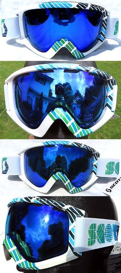 ea10d2267d98 Other Winter Sports 1303   110 Scott Womens Winter White Green Blue Lens Snow  Goggles Ladies Oakley Ski BUY IT NOW ONLY   45.0
