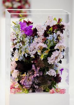 Flower arrangements on the Jil Sander runway, fall 2012