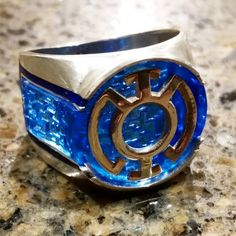 Custom Made to order BlueLantern Ring inspired ring by Batjeepster