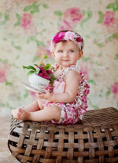 Seriously... Backdrop, floor mat, romper, headband, ottoman, and tea cup... This is an amazing deal! Southern Belle Set