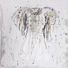 Grey Elephant Wall Decor ==