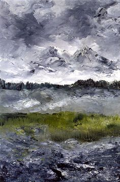 August Strindberg: Alpine Landscape II, 1905, oil on canvas, 60 x 40 cm. Thielska Galleriet, Stockholm.