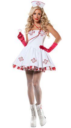 Nurse Nightingale Costume, Sexy Nurse Costume, Adult Nurse Costume