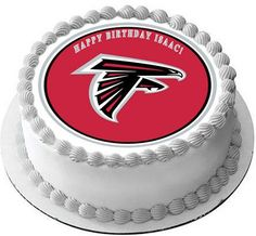 Atlanta Falcons Edible Birthday Cake Topper OR Cupcake Topper, Decor