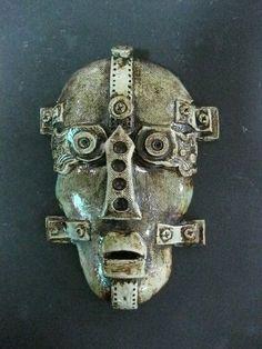 Steampunk Robot Ceramic Mask. $48.00, via Etsy.