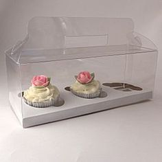 cupcake boxes and boxes for macaroons, cupcake stands, boxes for wedding cupcakes and cupcake decorations and accessories Pastel Cupcakes, Small Cupcakes, White Cupcakes, Flower Cupcakes, Wilton Cupcakes, 12 Cupcakes, Wedding Cupcakes, Cupcake Gift, Cupcake Toppers