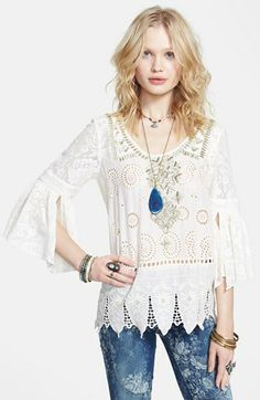 Free People Embroidered Tunic available at #Nordstrom