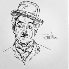 [펜화] Chaplin : 네이버 블로그