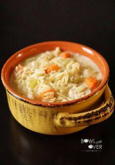 Lemon Orzo Chicken Soup :http://bowl-me-over.com/lemon-orzo-chicken-soup/