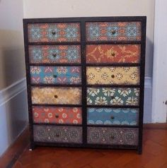 multi-colour-Vintage-Industrial-moroccan-style-Cabinet-12-Drawers-Storage-Chest