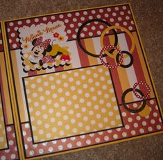 Disney World Minnie Mouse  ~ Two-Page Premade Scrapbook Pages