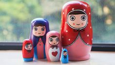 Limited edition  Kawaii Traditional Russian Doll por shinykins, $32.95