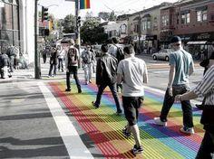 Rainbow Crosswalks in the Castro District (Castrostreet.org)