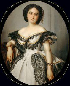 Franz Xavier Winterhalter - Portrait of a lady