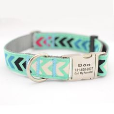 Laser Engraved Personalized Dog Collar Jewel Stripe by CDAdesigns